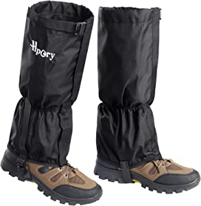 Hpory Leg Gaiters Waterproof for Men & Women Adjustable Breathable Snow Boot Shoes Gaiters, 600D Anti-Tear Oxford Cloth Hiking Leg Cover for Outdoor Backpacking Climbing Fishing Hunting