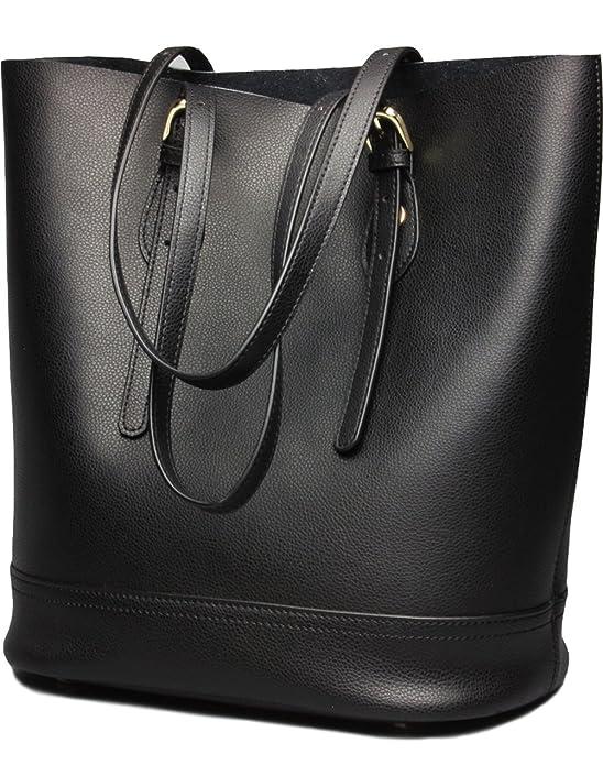 fd3b7f417663 Amazon.com: Covelin Women's Handbag Genuine Leather Tote Shoulder ...