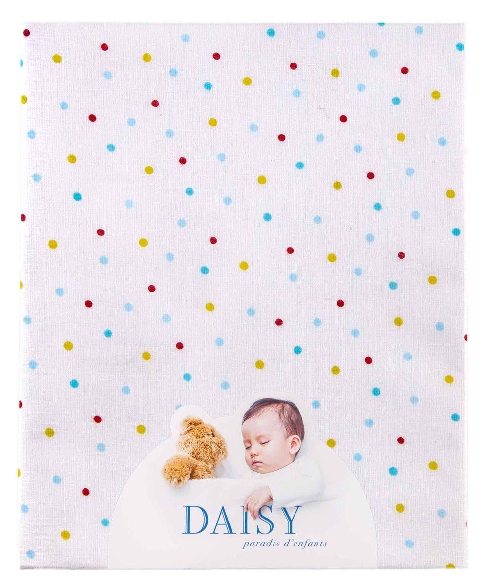 Drap-housse avec élastique 60x120(1pc)Le petit Monde heureux Daisy