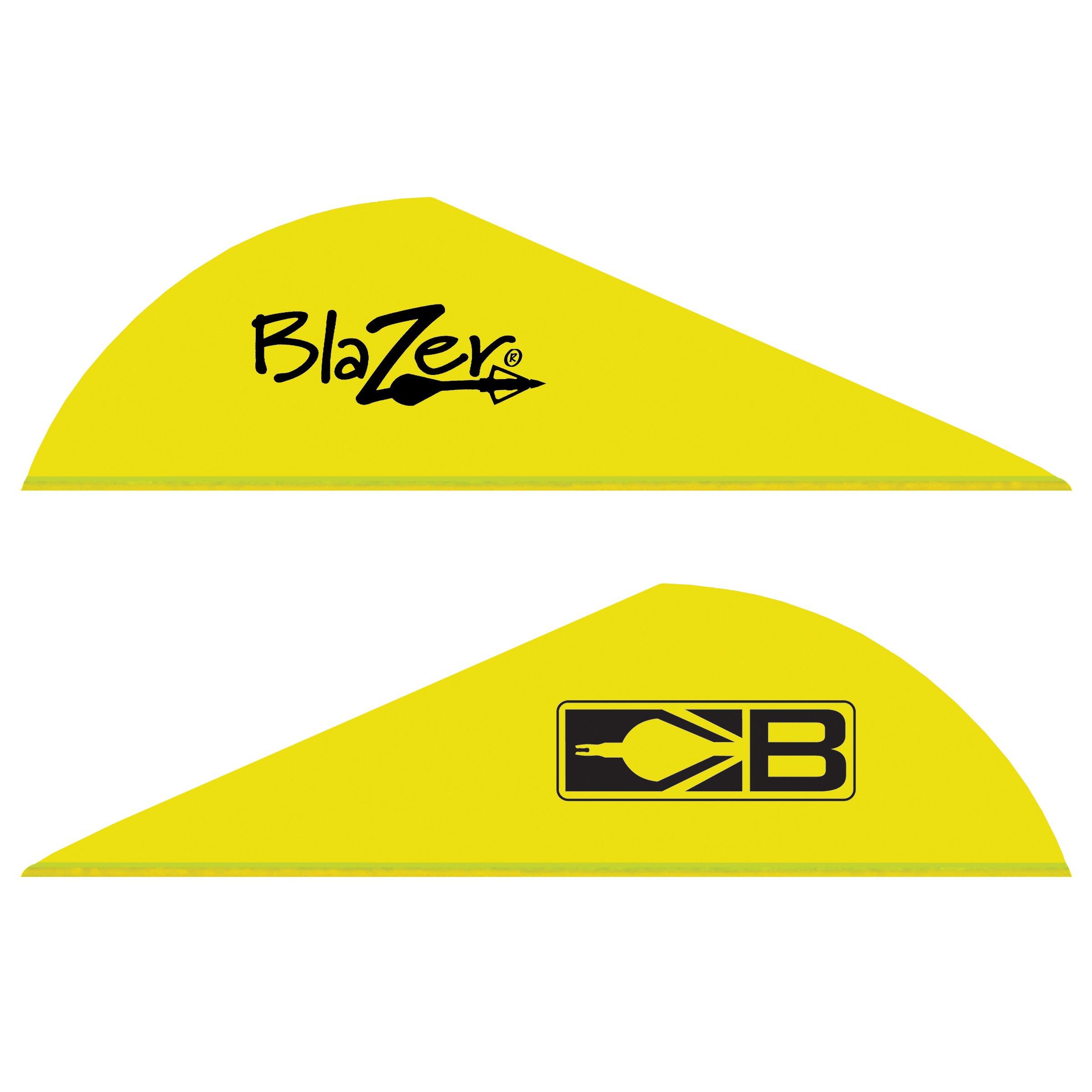 Bohning Blazer Archery Vane (100-Pack), Neon Yellow by Bohning