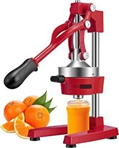 VIVOHOME Heavy Duty Commercial Manual Hand Press Citrus Orange Lemon Juicer Squeezer Machine Red