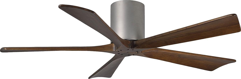 52 matthews irene 5 blade walnut nickel hugger ceiling fan 52 matthews irene 5 blade walnut nickel hugger ceiling fan amazon mozeypictures Image collections