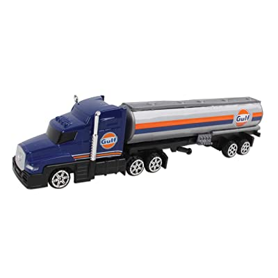 Daron Gulf Oil Tanker Truck: Toys & Games