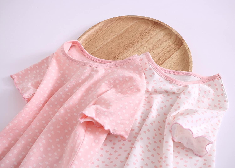 Zegoo Little Girls Cute Cotton Nightgown Floral Sleep Dresses