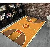 Patrón de la cancha de baloncesto Niños más gruesos que juegan los cojines Dormitorio antideslizante respetuoso del medio ambiente Sala de estar Sala de estudio Alfombrillas de la puerta ( Color : #2 , Tamaño : 80*120cm )