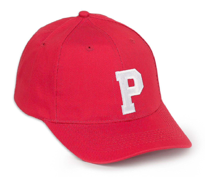Casquette de baseball d/écontract/és Coton Lettres de lalphabet A-Z Rouge Lettre Noire