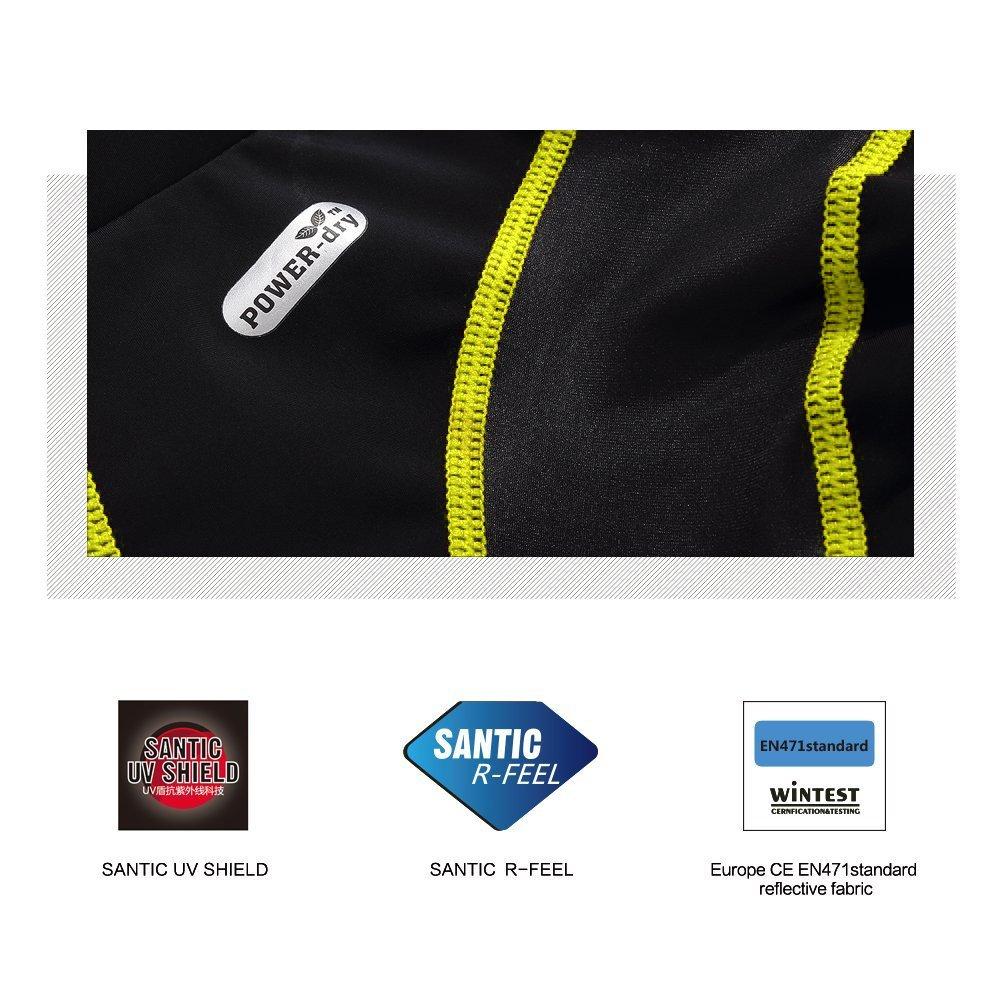SANTIC Mens Cycling Shorts Biking Bicycle Bike Pants Half Pants 4D Coolmax Padded Bike Shorts