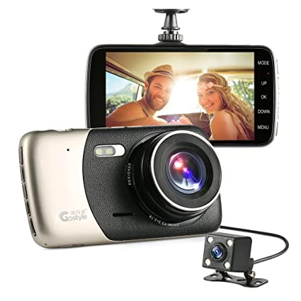 Ispring Dual Dash Cam 1296P HD 4  0 inch Video Front and