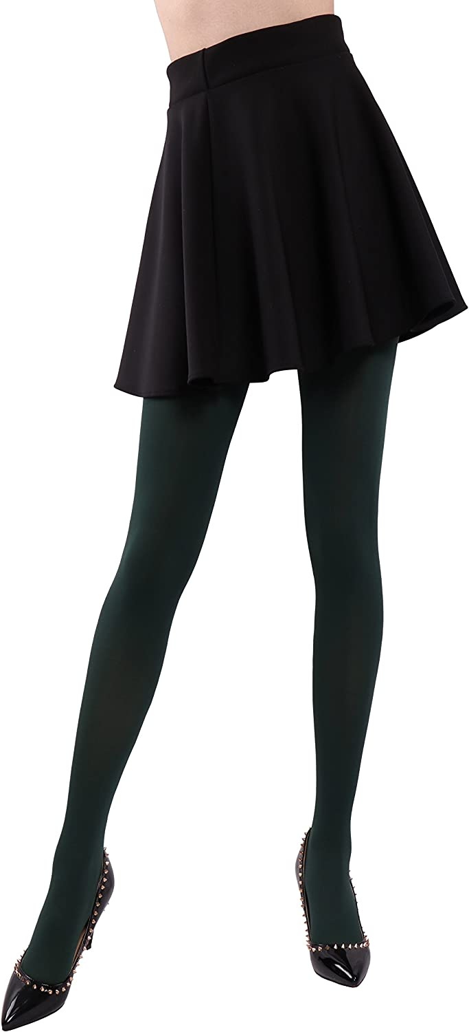 HeyUU Soft /& Stretrchy Colorful Tights 80 Denier Semi Opaque Full-footed Pantyhose for Women