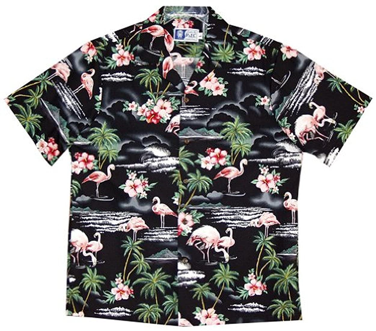 Amazon Rjc Mens Pink Flamingo Hibiscus Hawaiian Shirt Clothing