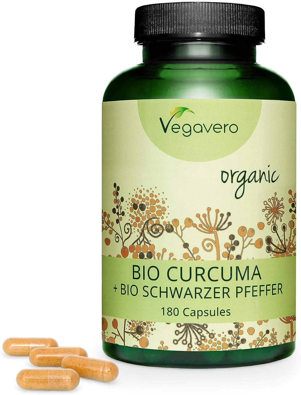 Cúrcuma Orgánica + Pimienta Negra Vegavero®   La Dosis Más Alta ...