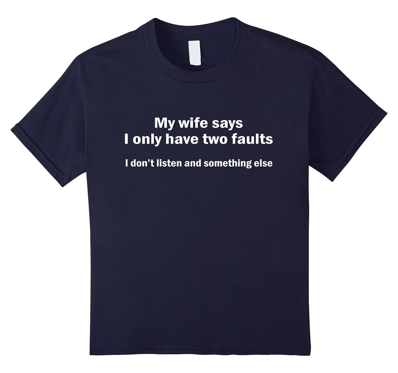 Mens wife faults tshirt Black-Teeae