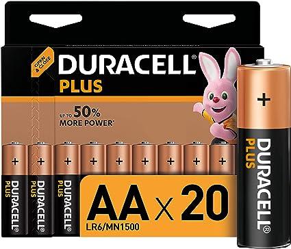 Duracell Plus Aa Mignon Alkaline Batterien Lr6 20er Elektronik