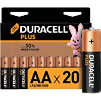 Duracell Plus AA Alkaline Batteries [Pack of 20], 1.5 V LR06 MX1500
