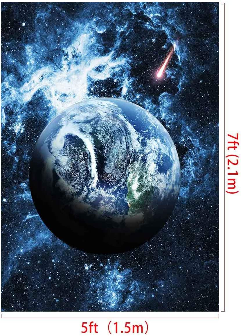 FLASIY 5x7FT Starry Sky Theme Photography Backdrops Earth Background for YouTube Party Photo Booth Studio Props LXAY063