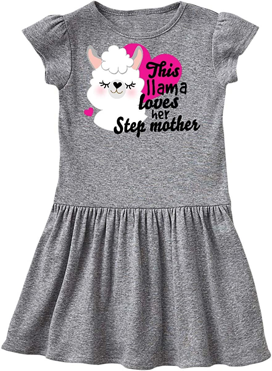 inktastic Valentines Day This Llama Loves Her Step Mother Toddler T-Shirt