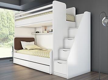 Etagenbett Für Kinder Mit Stauraum : Kinder jugend bett hochbett inkl regal treppe jahre garantie