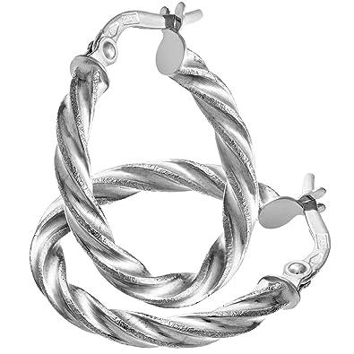Citerna Women's 9 ct Yellow Gold Diamond Cut Hoop Earrings mwlcbFyUmO
