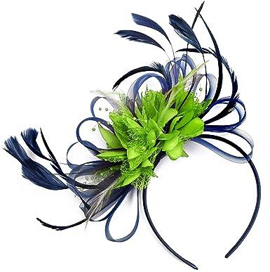 professionnel de premier plan bas prix divers styles Caprilite Fashion Serre-tête bibi de mariage Bleu marine et ...