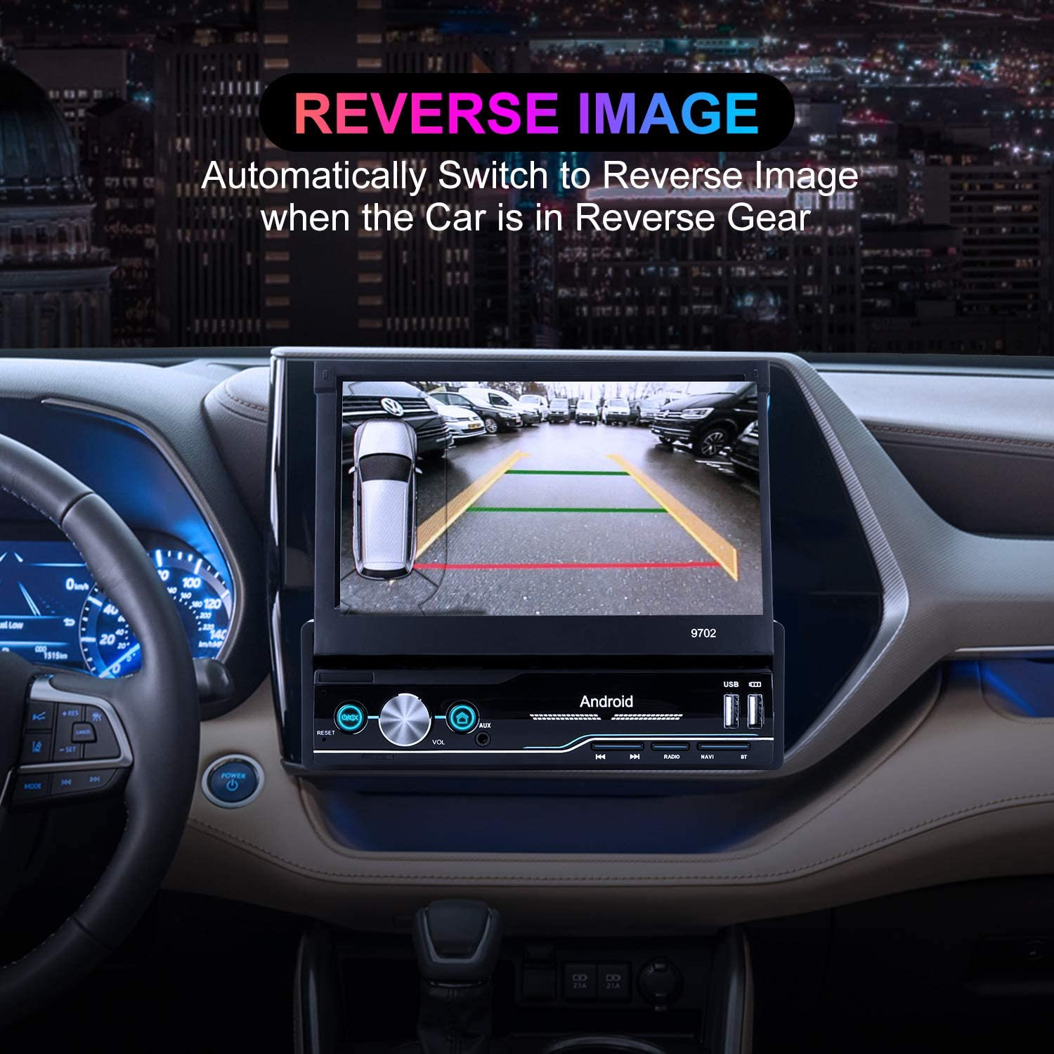 Car Radio Android 8.1 GPS Navigation Single Din car Stereo 7 inch HD Receiver Audio Video with Bluetooth//WiFi//FM//TF//USB//Aux-in//GPS,1GB RAM+16GB