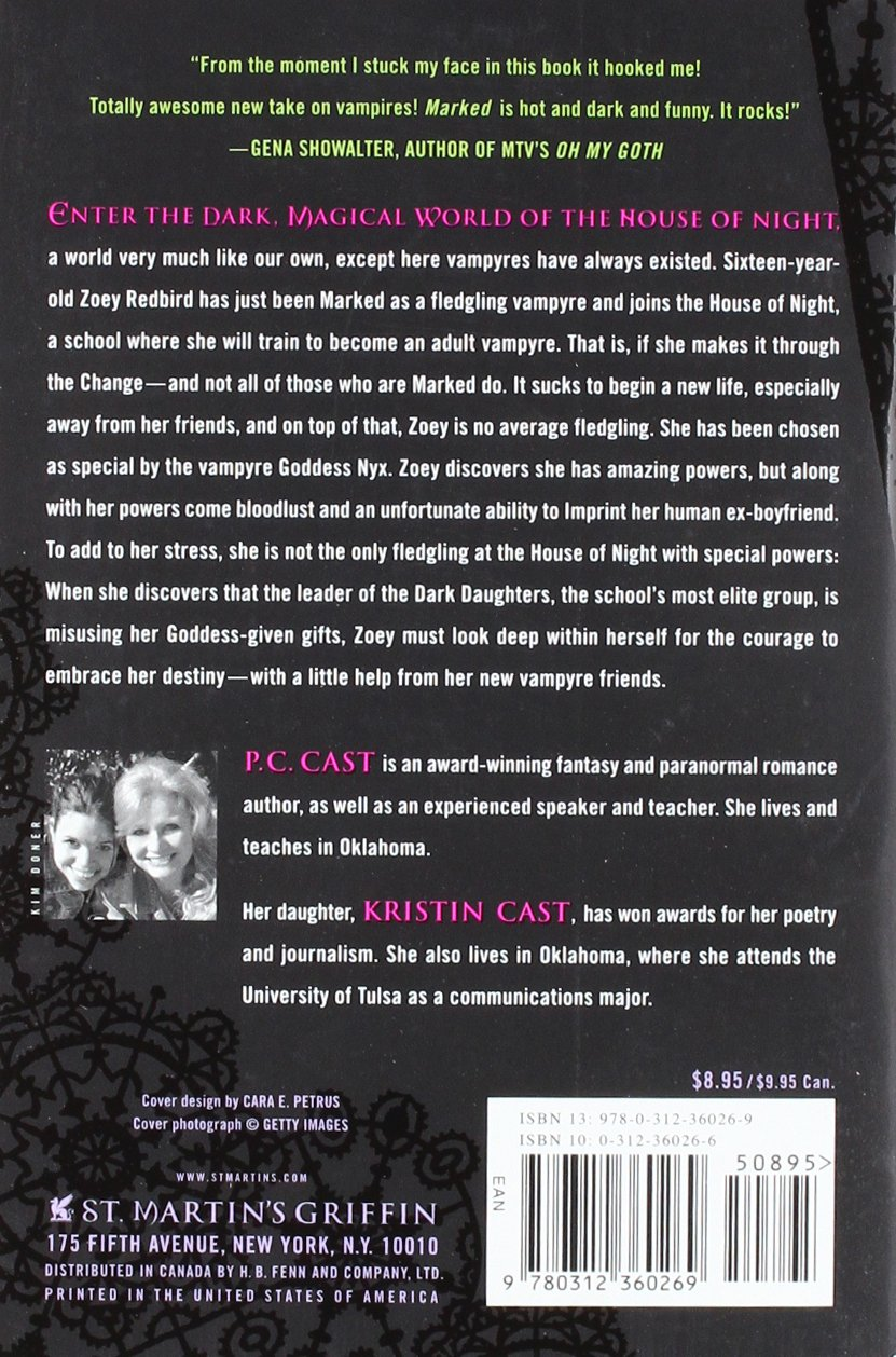 House of Night, Books 1-4 (Marked / Betrayed / Chosen / Untamed)