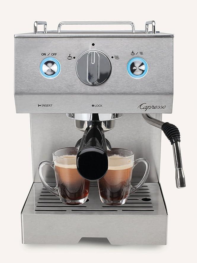 Amazon.com: Capresso 125.05 Cafe Pro Espresso Maker, Silver ...