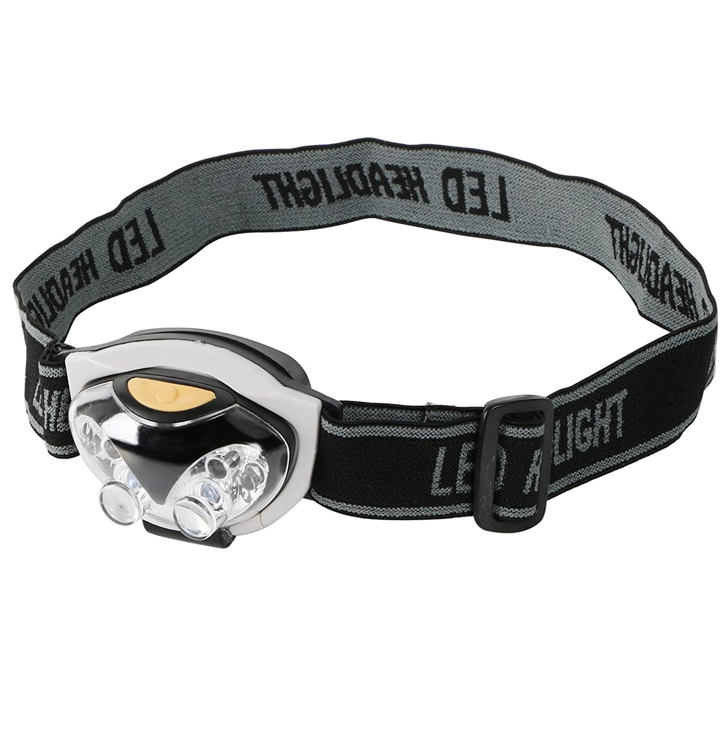 TRIXES 6 LED Adjustable Headband Light Camping Walking Hands Free Safety Torch