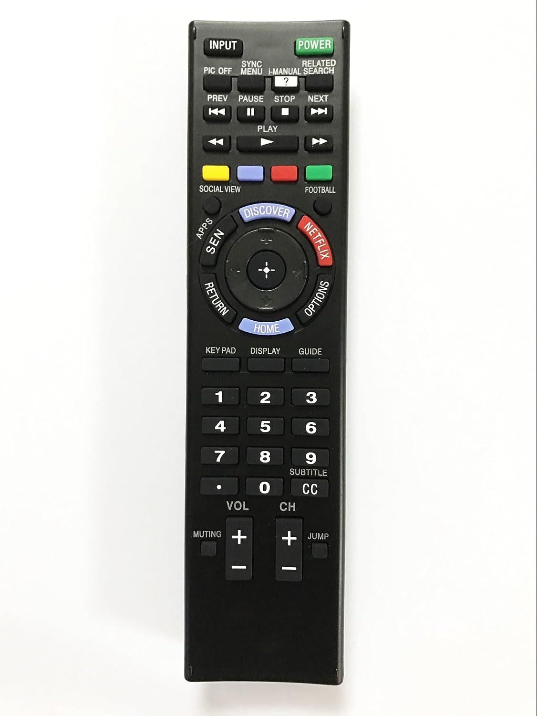 交換リモートコントローラ使用for xbr-70 X 850b xbr-65 X 850b kdl-40 W600b kdl-32 W700b Sony HDスマートLEDテレビ   B071XW9NZM