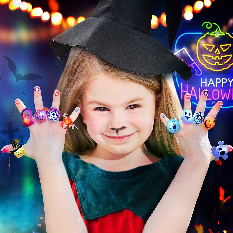 Glow in The Dark Halloween LED Flash Rings