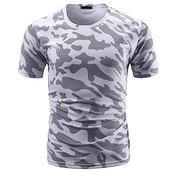 Camiseta Hombre,Longra ★ Camiseta de Camuflaje Hombre Militares Camisetas Deporte Ropa Deportiva Camisa de Manga Corta de…