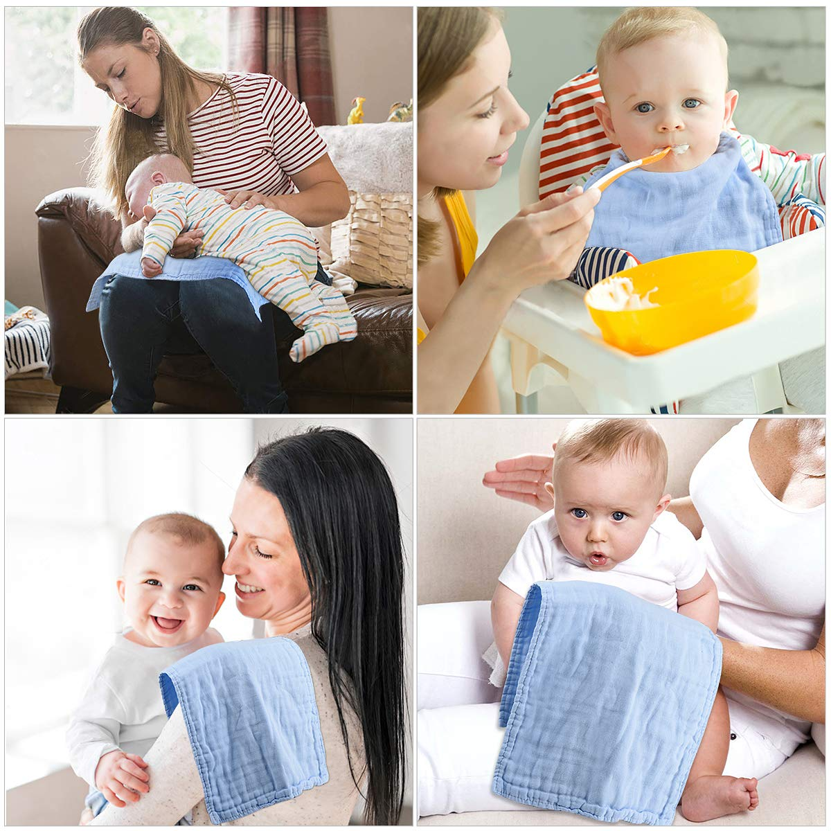 Pink 100/% Cotton Triple Layer Extra Soft /& Absorbent Multi-Use/Infant Burping Towels Burp Cloths for Baby Boy Girl/for Newborns