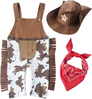 May's Baby Baby Toddler Boys The Cowboy Romper Onesie 3pcs Sets
