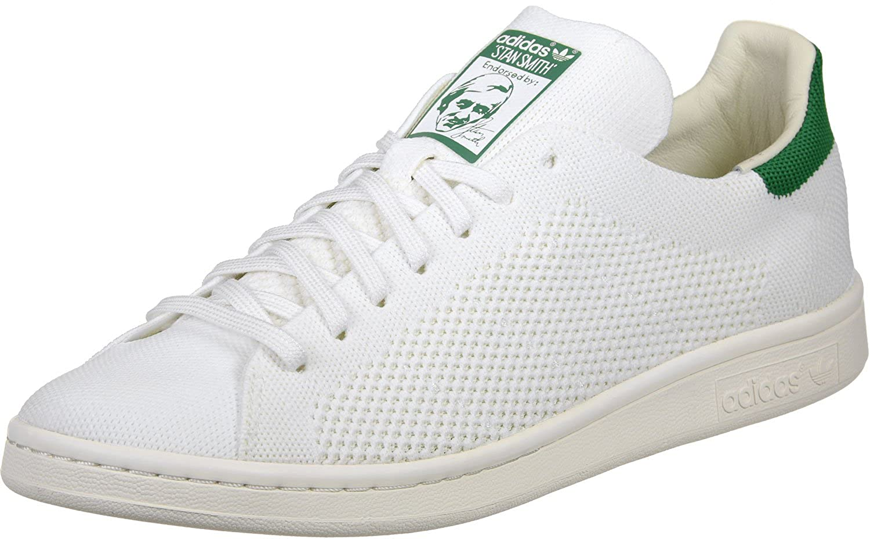 blanco-verde adidas Stan Smith OG Primeknit, Hauszapatos para Hombre