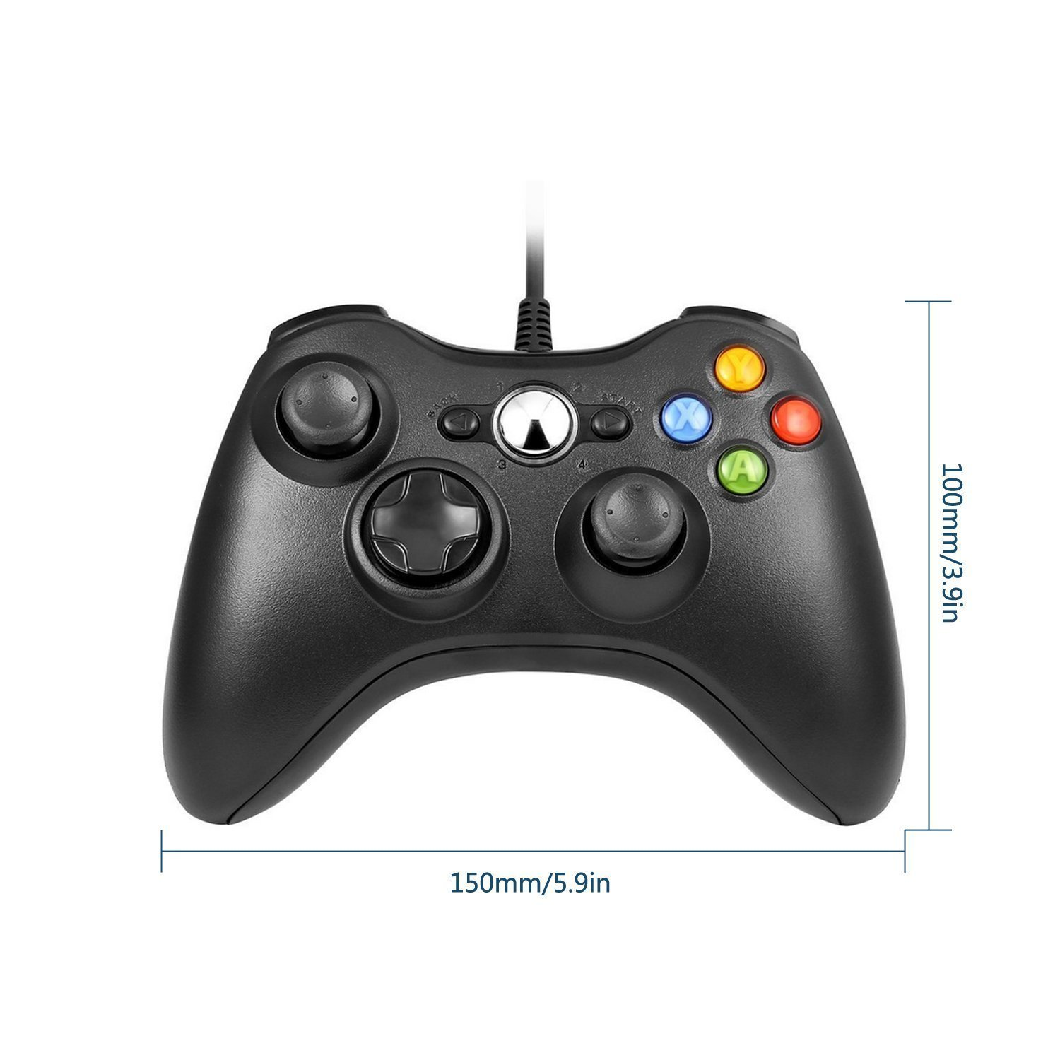 Amazon.com: Wired Game Controller, Lilyhood USB Wired Gamepad Joypad ...