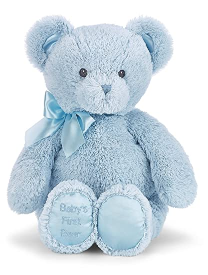 Amazon Com Bearington Baby S First Bear Large Blue Stuffed Animal