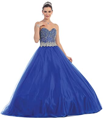 Layla K LK65 Prom Queen Formal Quinceanera Ball Gown (2, Royal Blue)