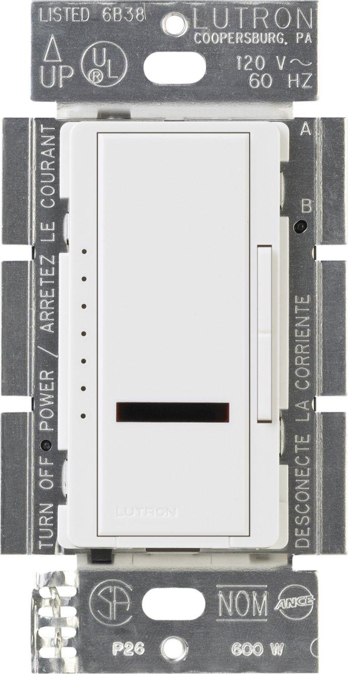 Lutron MIR600WH Maestro IR 600Watt SinglePole Dimmer White