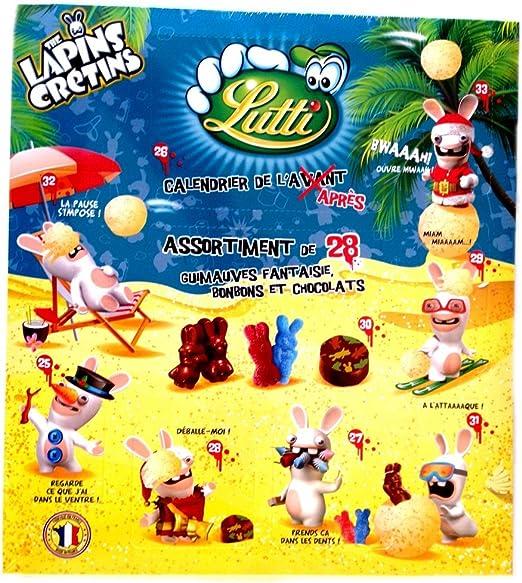 Lutti   The Lapins Crétins Calendrier de l'après 270g   calendrier