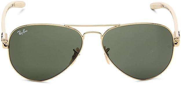 f8ff3aeb1e Ray-Ban AVIATOR TM CARBON FIBRE - ARISTA Frame CRYSTAL GREEN Lenses 58mm  Non-Polarized  Amazon.ca  Clothing   Accessories
