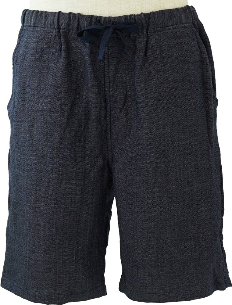 内野 リラックスホームウェア ダークブルー M メンズハーフパンツ マシュマロガーゼシャンブレー 綿100% RBS90327 M DB B07BNKNBVX ダークブルー ダークブルー