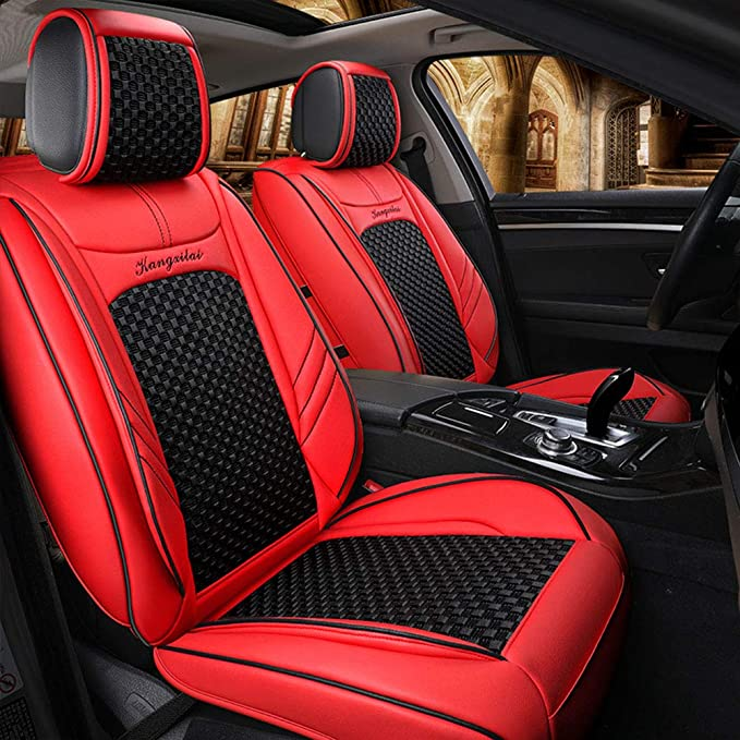 Deluxe Car Seat Cover PU Leather Universal Front/&Rear Seat Cushion Protector
