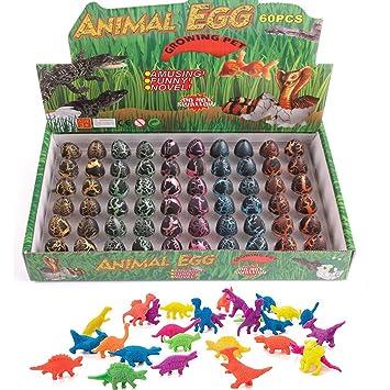 Hanyixue Juego de 60 Figuras de Dinosaurio Huevos, Juguete ...