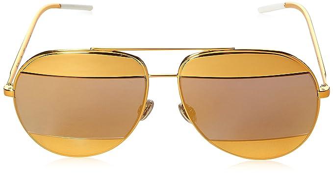 Christian Dior Damen Sonnenbrille DIORSPLIT1 SQ 1VT, Gelb (Yellow/Multilayer Gold), 59