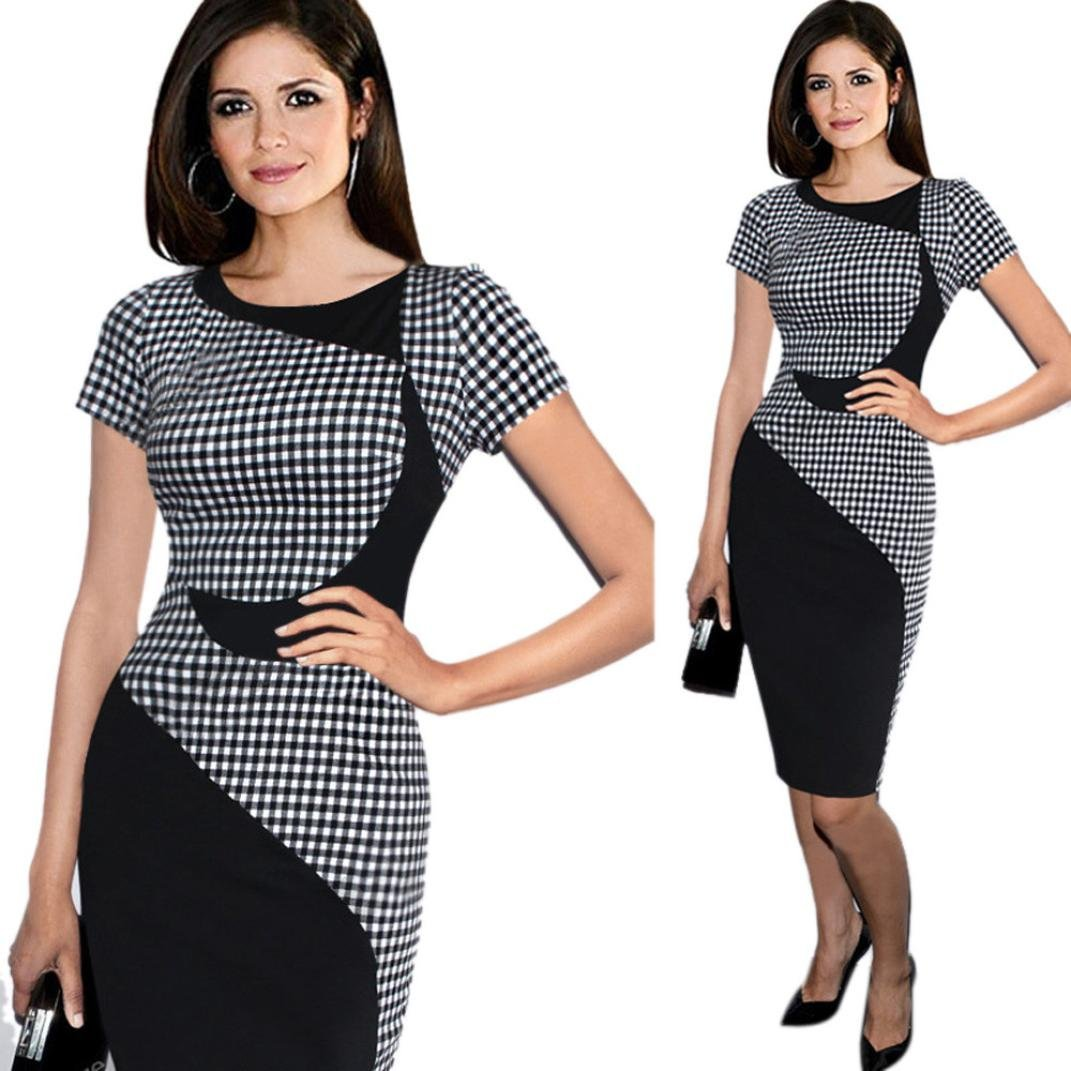 DaySeventh Women's Short Sleeve Elegant Business Dress Office Bodycon Dresses DaySeventh Apparel DS0608