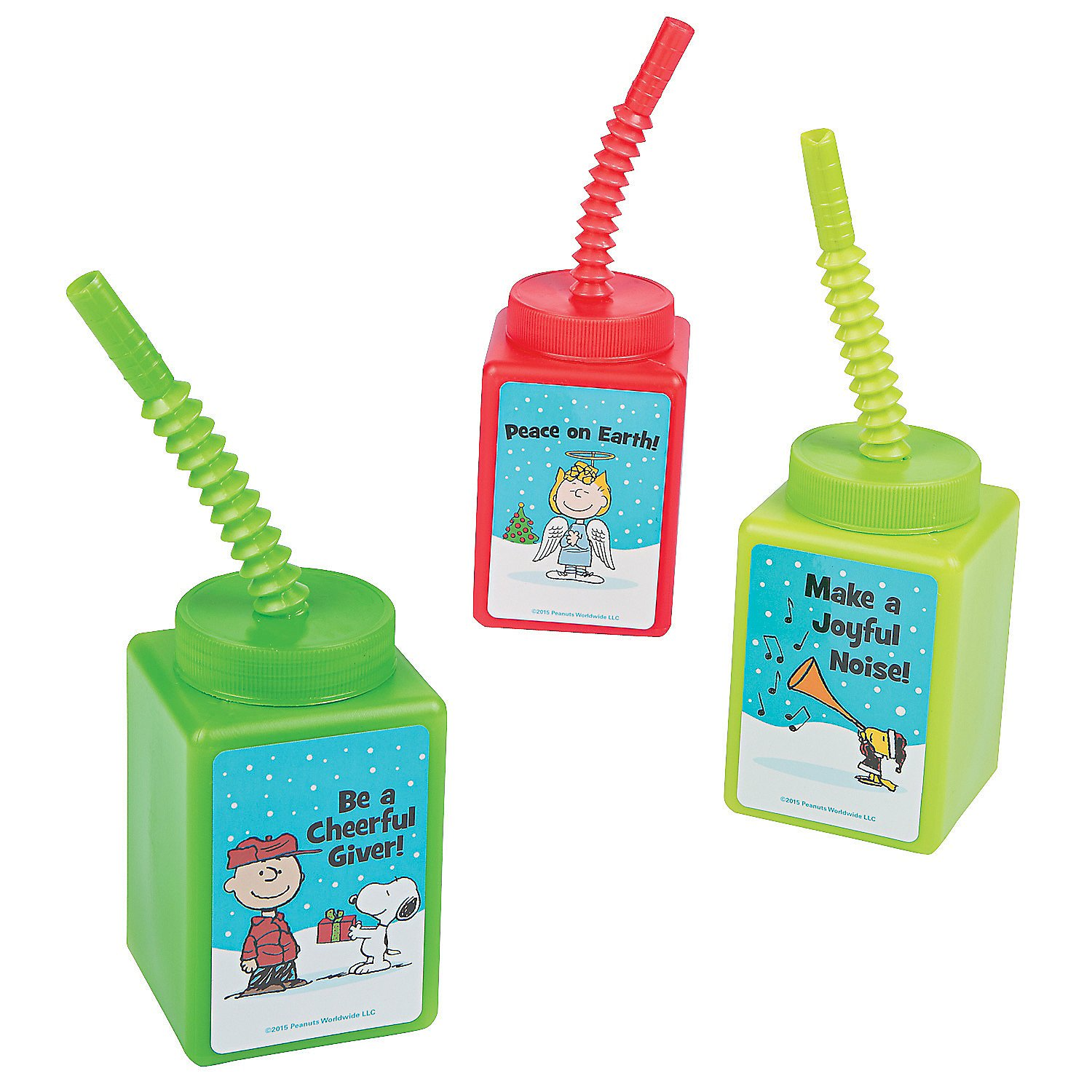 Peanuts Inspirational Cups with Straws