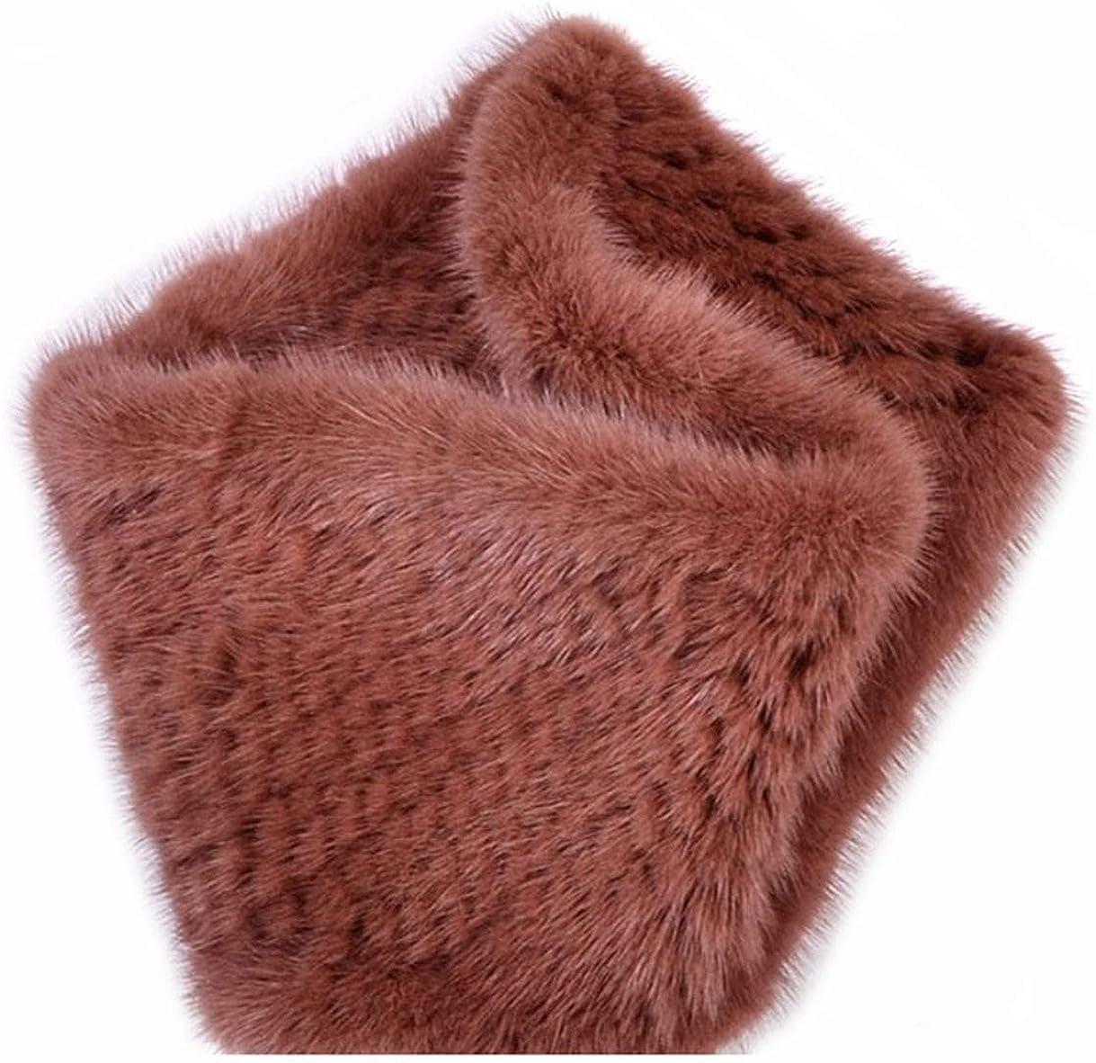 Fur Scarf Genuine Mink Fur...