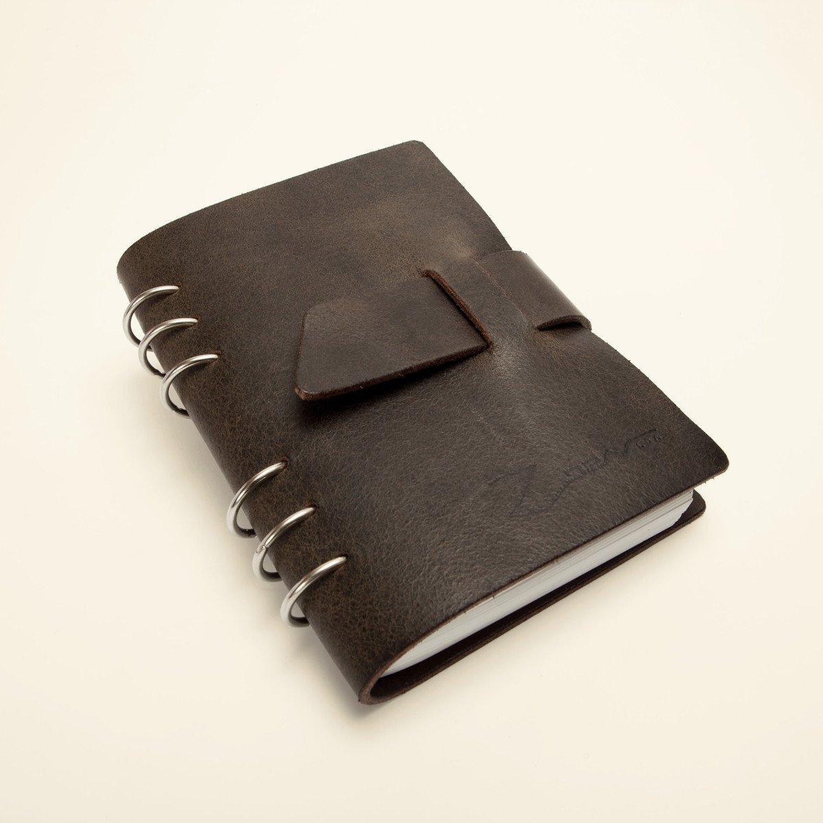 Cuaderno de Viaje artesanal -Cuero vaquetilla-Recargable ...