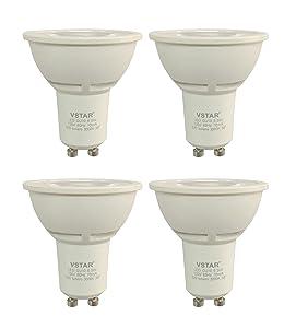 VSTAR LED GU10 Dimmable 6.5W Bulb,3000K Soft White/Warm Whit,50 Watt Equivalent,520 Lumens,Energy Star Certified,UL-listed,3 Years Warranty(6.5W 4Pack)