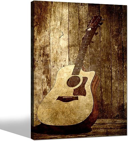 Sea Charm- Lienzo para guitarra acústica, decoración de pared ...