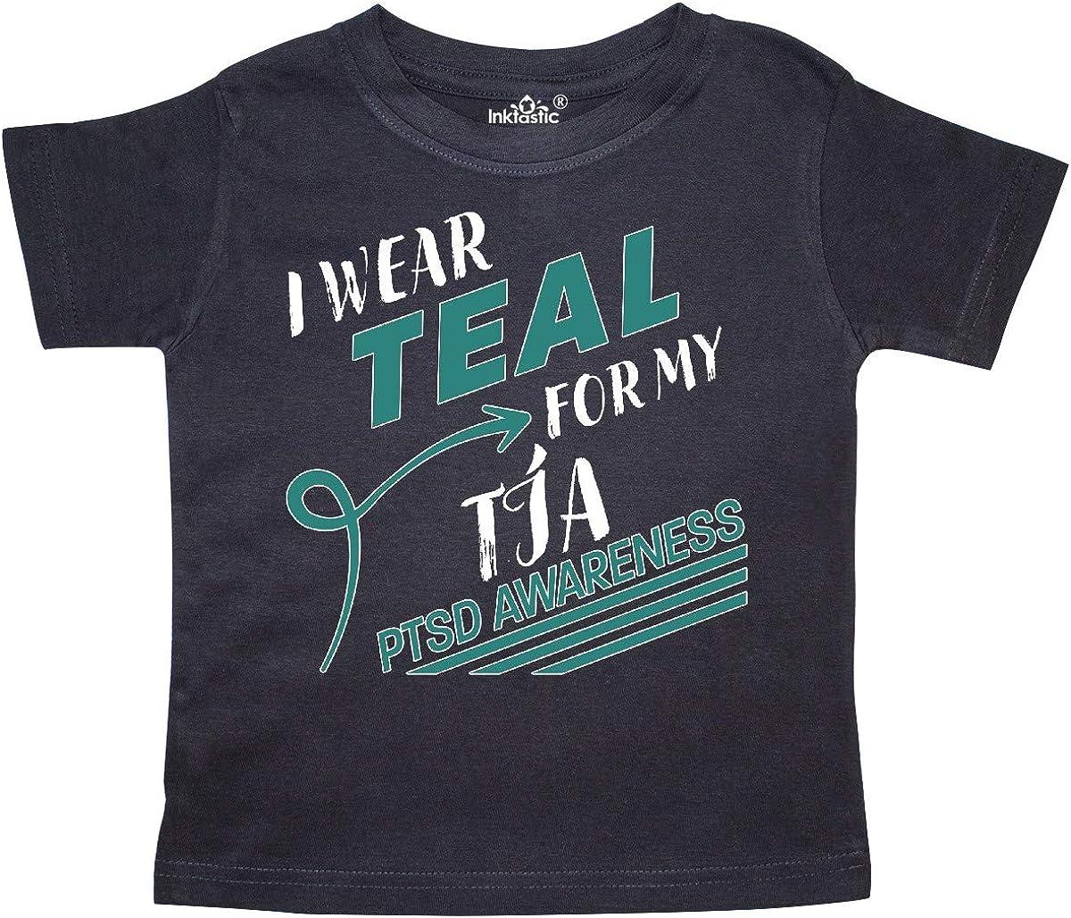 PTSD Awareness Toddler T-Shirt inktastic I Wear Teal for My T/ía
